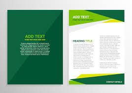 brochure templates vector art s green brochure template design