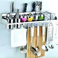 kitchen utensil rack piece stainless steel kitchen utensils gadget set with utensil hanging kitchen utensil rack