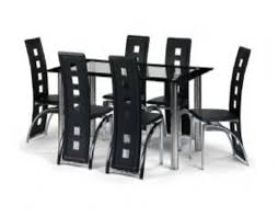 black and chrome furniture. exquisite modern dining table with chrome single base feat charming black and furniture i