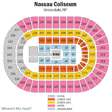 Nassau Coliseum Seating Chart Hockey Nassau Veterans Memorial Coliseum Uniondale Ny Seating