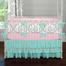 solid navy traditional collection baby crib bedding newborn pink and teal baby bedding 2018