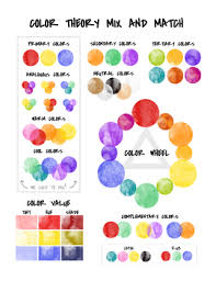 Color Theory Chart Color Theory Handout