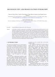 J2ee Design Pdf Decoupling Mvc J2ee Design Patterns Integration