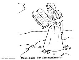 Ten Commandment Coloring Pages Free Printable Ten Commandments