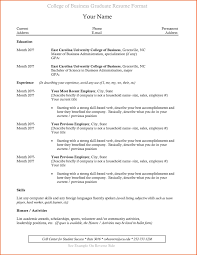 Sample Resume Business Administration Sample Resume for Recent College Graduate New Recent College 32