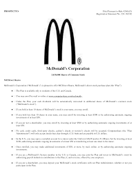 Adorable Resume For Cashier At Mcdonald S About Mcdonalds Cashier