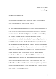 american politics major essay final copy 1 student no 42779006 callum craigie american politics major essay discuss the influence of