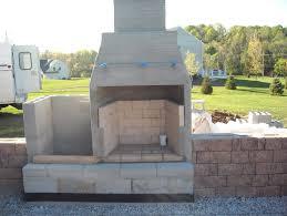 concrete block outdoor fireplace plans