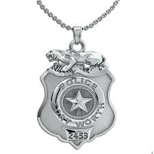 saint michael police necklace medal