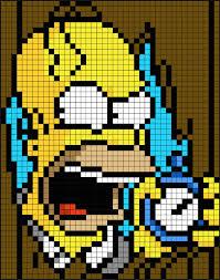Halloween Perler Bead Patterns Gorgeous Simpsons Halloween Perler Bead Pixel Art Patterns Pixel Art Shop