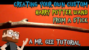 how to make a harry potter wand from a stick tutorial with mr gee you