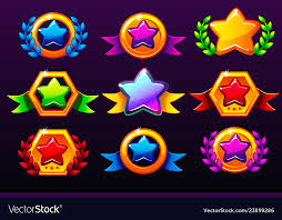 Coloured Templates Star Icons For Awards Creating