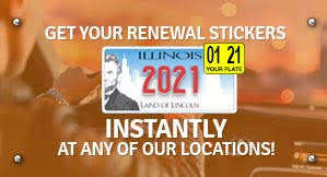 license plate sticker renewal illinois