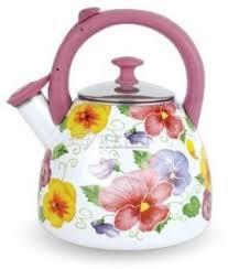 <b>Чайник эмалированный</b> KELLI KL-4198 со свистком <b>3.0</b>л купить в ...