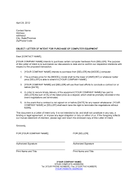 Letter Of Intent To Purchase Business Template Amazing Letter Of Intent For Purchase Of Computer Equipment Template