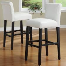 Bennett White Faux Leather 29-inch High Back Bar Stools (Set of 2) by  iNSPIRE Q Bold - Free Shipping Today - Overstock.com - 13003061