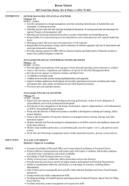 Financial System Manager Sample Resume Manager Financial Systems Resume Samples Velvet Jobs 24