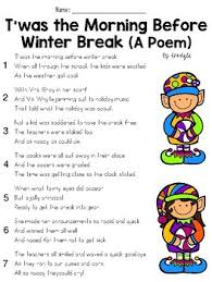 twas the morning before winter break poem question set ela fsa  twas the morning before winter break poem question set ela fsa style test