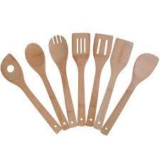 <b>Набор</b> бамбуковых <b>кухонных принадлежностей</b>, <b>7</b> упаковок ...