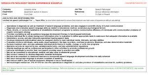 Speech Language Pathologist Resume Resume Badak Adorable Speech Language Pathology Resume