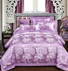 purple bedding set luxury purple bedding set embroidered fl satin jacquard bedspread king queen size duvet cover sheets bed sheet duvet cover set king