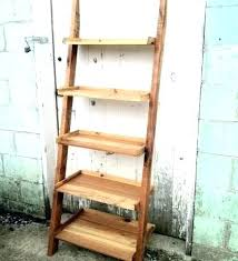 rustic wood ladder antique ladder shelf furniture rustic wood ladder bookcase for