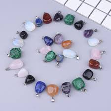 natural irregular crystal stone pendants diy necklace jewelry making supplies