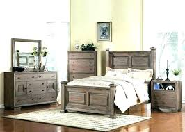 Rustic Wood Bedroom Furniture Rustic Wood King Size Bed Distressed ...