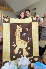 Gentle Giraffe Baby Quilt - Quilters Club of America & Gentle Giraffe Baby Quilt Adamdwight.com