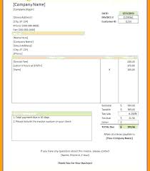 Word Document Invoice Template Invoice Examples Word Word