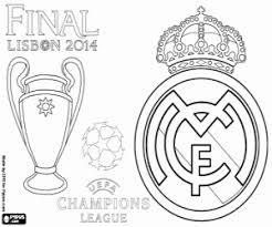 Kleurplaat Real Madrid Champions 2013 2014 Kleurplaten