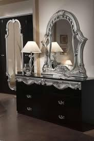 black and silver bedroom furniture. alluring mirrored bedroom furniture inspiration designs classy italian in silver polished and dark drawers vanity also black