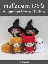 Halloween Crochet Patterns Mesmerizing Amazon Halloween Girls Amigurumi Crochet Pattern Easy Crochet