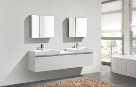 Modern bathroom furniture Restroom Aquamoon Venice 83u2033 White Double Sink Modern Bathroom Vanity With Medicine Cabinet Square Bathroom Sink Maykke Aquamoon Venice 83