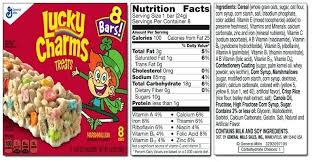 Lucky Charms Nutrition Label Writings And Essays Corner