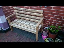 garden bench out of reclaimed wood step