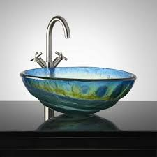 bathrooms glass vessel sinks bathroom sink bowls bowl oval faucets furniture ideas to decorate them