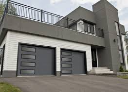 garage doors with windows. Garaga - Standard+ Garage Doors, Model XL, Charcoal, Left-side Harmony  Window Doors With Windows E
