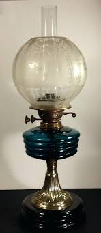 oil lamp globes original lamp works brass oil lamp with etched globe shade in antiques antique