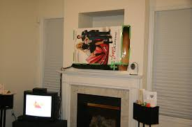 diy installing 46 inches lcd tv above the fireplace and patching the niche diyable com