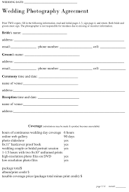Wedding Photography Contract Form 3 Photography Contract Template Free Download