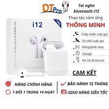Tai Nghe Bluetooth Không Dây i12 TWS , DTpro , Tai Nghe Chơi Game Nghe Nhạc  Giá Rẻ , Tai Phone i12 TWS Chống Nước - Tai nghe nhét tai & chụp tai