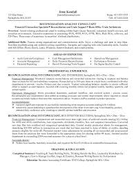 Reconciliation Analyst Cover Letter