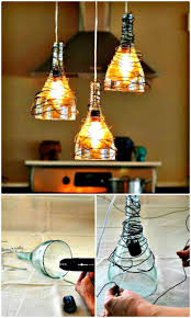 easy diy wine bottle pendant lights chandelier