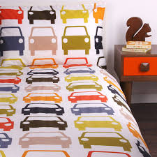 orla kiely multi cotton cars print double duvet set