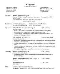 Entry Level Resume Depaul