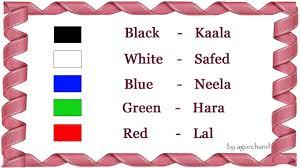 Learn Hindi Through English Colors In Hindi Hindi Pinterest