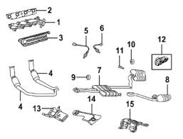 mopar parts restoration parts 2008 up dodge challenger exhaust c 2009 2010 dodge challenger 5 7l exhaust components