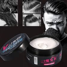 1pc Professional Men Matte Hair Wax ครม Strong ยาวนาน Fluffy ผมจดแตงทรงผมประเภทครม Pomade ผชายแฟชนผมเครองมอ 100g