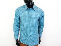 Mizzen And Main Size Chart Details About O Gaupa Mens Shirt Tailored Checks Blue Size M